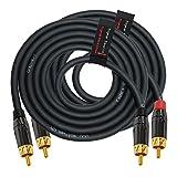 6 英尺 RCA 电缆对 - Gotham GAC-4/1(黑色)星星四平衡音频互连电缆带Amphenol ACPL 黑色镀铬外壳,镀金 RCA 连接器 - 定向