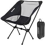 MARCHWAY 超轻折叠野营椅,便携式紧凑,适用于户外野营、旅行、海滩、野餐、节日、徒步旅行、轻质背包