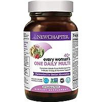 New Chapter 每日一粒 专为40+女性,女性多种维生素含发酵益生菌+维生素D3 + B维生素+Non-GMO成分 - 24粒