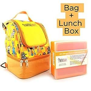保温午餐袋,包括儿童硅胶午餐盒,The Parent Diary 出品 橙色