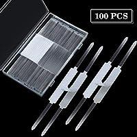 100 件自粘紧固件金属爪 100 个紧固件/盒用于纸质文件夹配件,2.75 英寸底座(2 英寸容量)