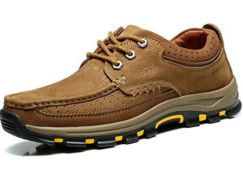 GNSHIJIA公牛世家 时尚潮流男鞋 户外休闲鞋 男士复古工装鞋 英伦真皮户外运动鞋 磨砂防滑登山鞋