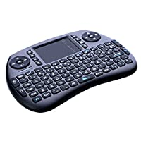 2.4GHz Wireless Keyboard with Mouse, Longruner Mini Touchpad Rechargeable Combos for Raspberry Pi 3 2, Android TV Box, Windows PC, HTPC, IPTV, Raspberry Pi, XBOX 360, PS3, PS4