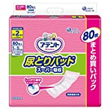Attent 尿垫 超吸收 女性用 带子用 【介助行走方式】 【大容量】80枚