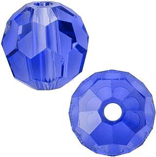 Swarovski 施华洛世奇圆形水晶珠耳环手链脚链项链钥匙链魅力珠宝制作配件用品 宝石蓝 8mm
