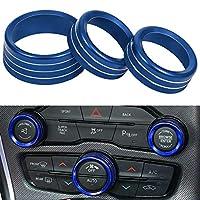 适用于道奇挑战者 2015-2019 的空调开关 CD 按钮把手 蓝色 challenger button cover