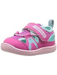TSUKIHOSHI Kids Baby Girl's Ibiza2 (Toddler) Fuchsia/Mint Quick-Dry Sneaker