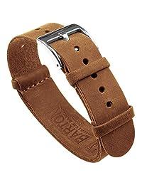 Barton Watch BandsLNATESPLNG22 Top Grain Leather Gingerbread Brown LNATESPLNG22 表带