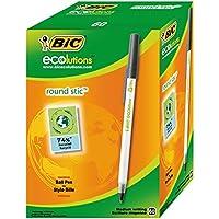BIC 圆珠笔 ECOlutions 圆形手柄(0.32 毫米)盒子 每 60 个 黑色