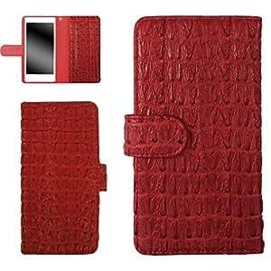 whitenuts 保护套翻盖式 ( 左手 ) 鳄鱼图案  红色 6_ らくらくスマートフォン2 F-08E