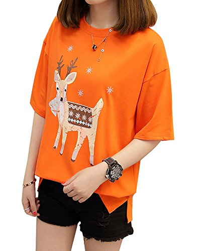 Rungoo 蓝格风尚 t恤女短袖韩范百搭宽松学生2017夏装新款韩版体恤打底衫上衣