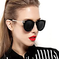 PARZIN 帕森 2015新款 男女时尚太阳镜 防紫外线偏光眼镜 箭头潮墨镜 9231 亮黑色