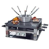 Solis 奶酪板烧,桌面烧烤,肉类火锅,8人,不锈钢,组合烤架,3合1,类型796