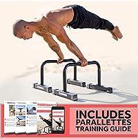 Rubberbanditz Parallettes 俯卧撑撑 | 重型防滑平行支撑架,适用于*健身、体操、健身锻炼