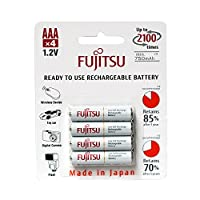 Fujitsu AAA NiMH 750mAh 預充電可充電電池組4 - HR-4UTCEX(4B)