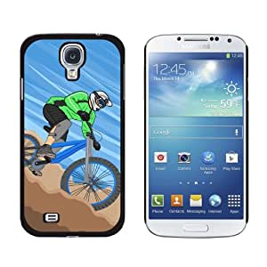 Graphics and More Mountain Biking Biker Snap-On 硬质保护壳 Samsung Galaxy S4 - 非零售包装 - 黑色