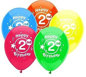 partymate 印花乳胶气球 2ND BIRTHDAY PARTY 8 CT