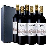 拉菲罗斯柴尔德 传奇梅多克红葡萄酒 六支经典蓝色礼盒装 750ml*6(ASC)(法国进口红酒)