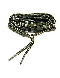 greatlaces 橄榄绿–黑色 proboot (TM) 靴子圆款牛仔夹克鞋带–(2双装)
