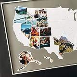 1DEA.me USA 照片地图 - 50 个州旅行地图 - 60.96 x 91.44 厘米 - 由弹性塑料制成