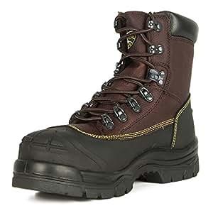 Oliver 65 系列 6 英寸耐化学系带皮革工作靴 (65394) 8 65394-BRN-080