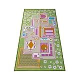 儿童地毯游戏垫地毯玩耍时间! Fun House 非常适合与玩偶迷你人形玩具汽车、玩具 - *学习教育游戏和玩耍 - 儿童游戏垫,游戏区域包括 3D 房间!
