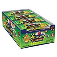 AirHeads Xtremes Sourfuls Candy Bag, Rainbow Berry, Party, Halloween, 2 Ounce (Bulk Pack of 18)
