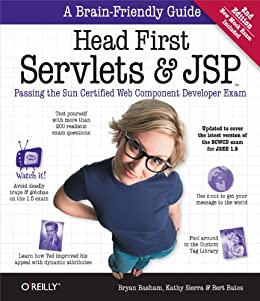 """Head First Servlets and JSP: Passing the Sun Certified Web Component Developer Exam (English Edition)"",作者:[Bryan Basham, Kathy Sierra, Bert Bates]"