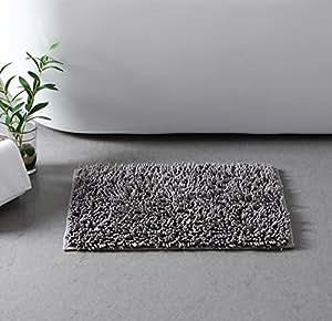 VCNY 家用浴室地毯, 炭黑色 17x24 GAL-RUG-1724-GP-CHARC