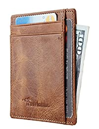 Travelambo RFID 前口袋极简修身钱包真皮小码