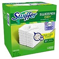 Swiffer Sweeper Dry Sweeping Pad Refills for Floor mop with Febreze Lavender Vanilla & Comfort Scent 37 Count