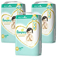 Pampers 幫寶適 紙尿褲 紙尿褲 適合新生兒的皮膚 M(6~11kg)66片x3個