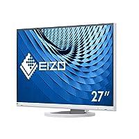 EIZO 艺卓 FlexScan 超薄显示器 EV2760-WT (68.5厘米/27英寸)(DVI-D,HDMI,USB 3.1集线器,DisplayPort,5ms响应时间,分辨率2560 x 1440),白色