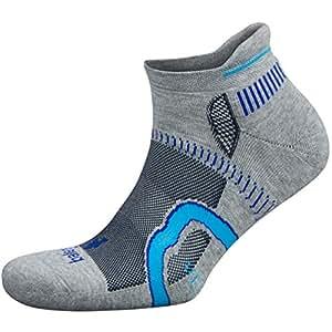 Balega 男式和女式隐形轮廓袜(1 双),中灰色/墨水,大号