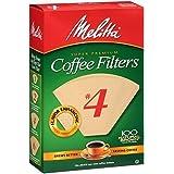 Melitta 圆锥咖啡过滤纸自然棕色 # 4100支