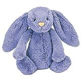 Jellycat 毛绒玩偶 BASHFUL害羞系列之邦尼兔 深蓝色中号高31cm