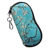 Fintie 眼镜盒带登山扣,超轻便携式氯丁橡胶拉链太阳镜软壳