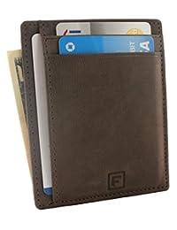 Flint RFID 极简主义前口袋修身钱包真皮