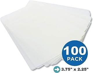 1 InTheOffice 热层压袋,5 密耳,3.75 英寸 x 2.25 英寸,哑光透明,100 个/盒