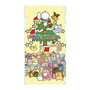 みっちり 猫手机壳透明印花圣诞树  クリスマスツリーB 4_ AQUOS PHONE si SH-01E