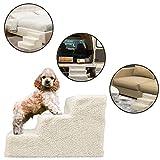 Ideas In Life 宠物梯坡道适用于高床床的宠物梯子 - 狗狗和猫狗的小狗梯适宜用作高躺椅、床、椅子或汽车 黑色 小号