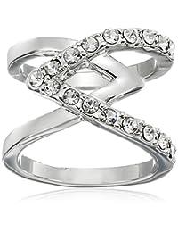 GUESS 基本十字架与宝石戒指,7 号 银色 7