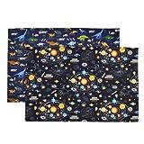 【2片装】餐垫 大 太阳系行星和恐龙大陆套装(2片套装) N3601222