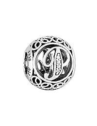 Pandora 潘多拉 丹麦品牌 复古字母P925银串饰791860CZ