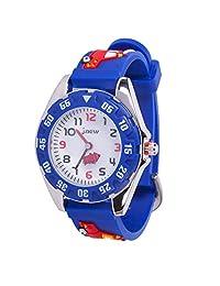 儿童手表,3D 可爱卡通防水硅胶手表,适合女孩和男孩,幼儿腕表 小号