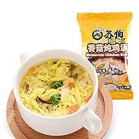 苏伯 12g香菇炖鸡汤冻干即食 方便速食鸡肉汤野营食品汤料包