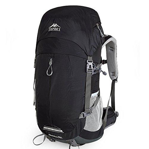 ポケットを送信するTopsky登山バッグ軽量スポーツバッグ男性と女性の多機能屋外バックパックハイキングバッグ大容量バックパックハイキングキャンプ防水リュックサックレジャー旅行荷物バックパック40リットル50 L 30624