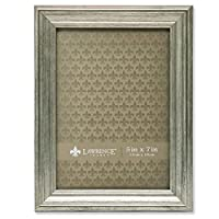 Lawrence Frames Sutter Burnished Picture Frame, 5 by 7-Inch, Silver
