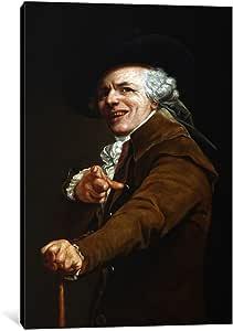 iCanvasART 8806-1PC3-18x12 Joseph Ducreaux's Self-Portrait Canvas Print by Joseph Ducreux, 0.75 by 12 by 18-Inch