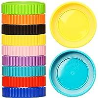 Youngever 27 只装塑料梅森罐盖带密封环,适用于球、角兽等,常规嘴巴,食品级塑料存储盖,适用于梅森、罐